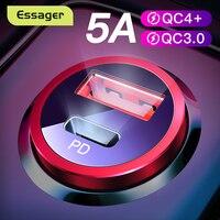 Essager carga rápida 4,0 USB 3,0 cargador de coche para iPhone Xiaomi teléfono móvil 5A SCP QC4.0 QC3.0 QC tipo C de coche rápido cargador USB