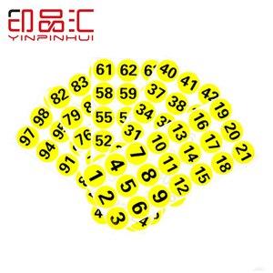 50 мм 1-500 печатные клейкие этикетки с покрытием бумажные наклейки с номером пользовательские счетные наклейки