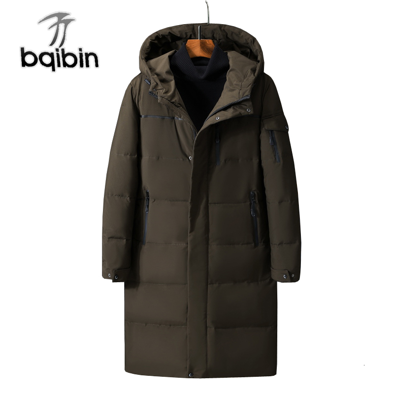 New Thick   Down   Jacket Men Hooded Casual Long   Down     Coat   Windproof Warm Winter Jackets Men's Clothing Plus Size 5xl #578