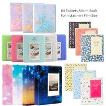 Дополнительный фотоальбом с 64 карманами/фотоальбом/угловые наклейки для FujiFilm Instax Mini 8, Mini 9 7s 50 90 Fuji Films Paper
