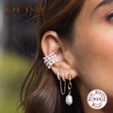ROXI Luxury Round Freshwater Pearls Tassel Long Chain Hoop Earrings for Women Gi