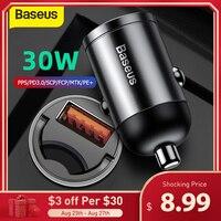 Baseus 30W Schnell Auto Ladegerät QC 4,0 PPS Schnelle Lade für Xiaomi Samsung Telefon Auto USB Typ-C buchse Adapter Ladung