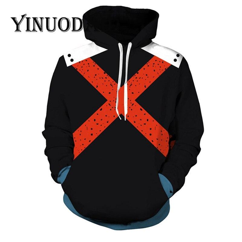 Fans Wear My Hero Academia Sweatshirt  - Katsuki Bakugo Hero Academia Cosplay Costumes Hoodie