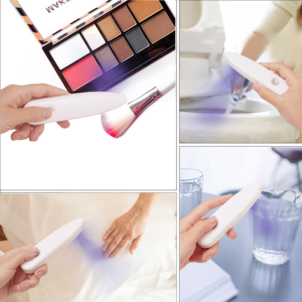 USB Ultraviolet Portable LED UV Disinfector Press Switch Rechargeable Sterilizer Portable Handheld UV Disinfection Lamps 10W