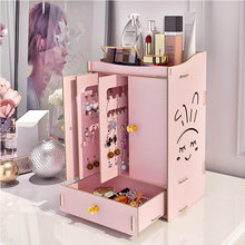 Multi-layer Assembly Color Jewelry Holder Earrings Cosmetic Storage Box Vertical Dressing Table Sundries Large Space Storage
