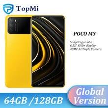 POCO-teléfono inteligente M3 versión Global, 4GB, 64GB/2020 GB, Snapdragon 128, ocho núcleos, batería de 662 mAh, cámara de 48MP, 6000