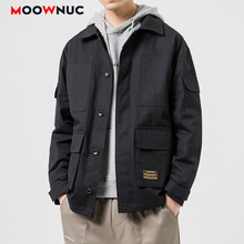 Coats 2020 MOOWNUC Outerwear Hip Hop Jackets Kpop Fashion Hombre Denim Loose Solid  Men's Clothes Spring Dress Boys Casual MWC