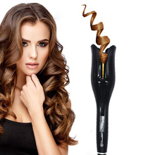 Rose-shaped Curling Iron Automatic Hair curler with Tourmaline Ceramic Heater LED Digital Curler Air Wand Styling Tools