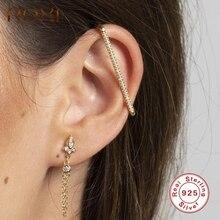 ROXI Geometry Saw Zircon No Piercing Ear Cuff Clip Earrings