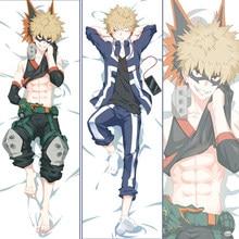 2020 Anime Dakimakura Boku No Meu Herói Academia Katsuki Bakugo Abraço Travesseiro de Corpo Caso Cosplay Otaku BL Capa de Almofada Japonês presente