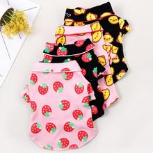 All Season Cotton Dog Cat Pajamas Teddy Bulldog Dog clothes homewear Clothing for small Pet Puppy pet dog cat fish pattern cotton pajamas leisure