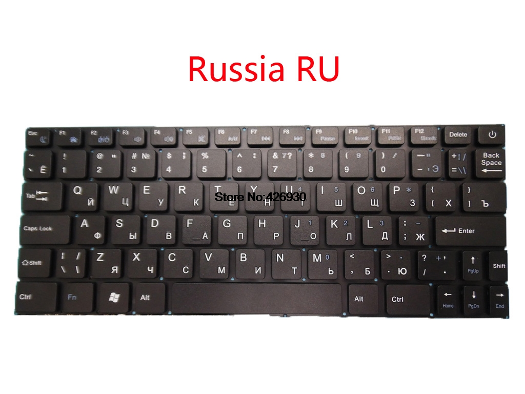 Laptop Keyboard For Irbis NB11 NB34 Russia RU English US Black Without Frame New and Original