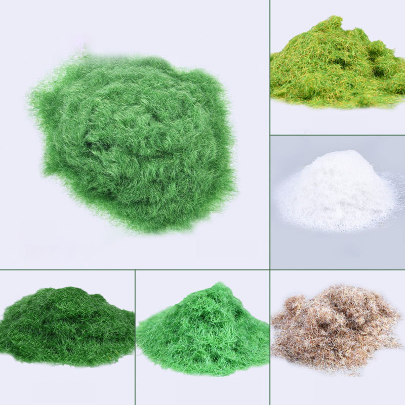 30g Six Colors Grass Powder Flock Adhesive Nylon Grass Powder DIY Model Building Material