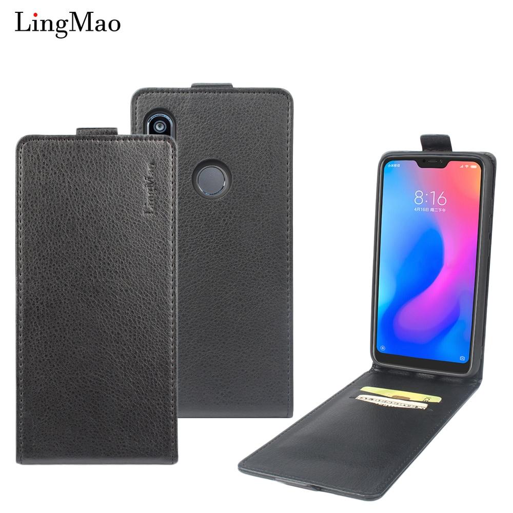 Flip Case For Xiaomi Redmi Note 7 5 6 Pro Phone Bag Global Version Mi 8 9 SE lite Redmi 7 7A K20 20 Pro 9T Litchi leather Cover
