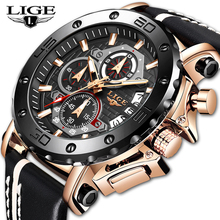 2020 LIGE New Fashion Men Watches Top Brand Luxury Military Quartz Waterproof Ch