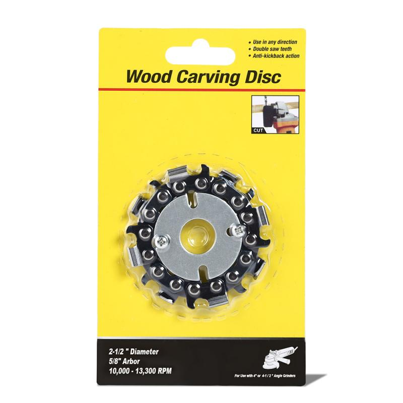 16mm Wood Carving Disc Woodworking Chain Grinder Chain Saws Disc Chain Plate Tool For Angle Grinding 2.5 Inch Tools