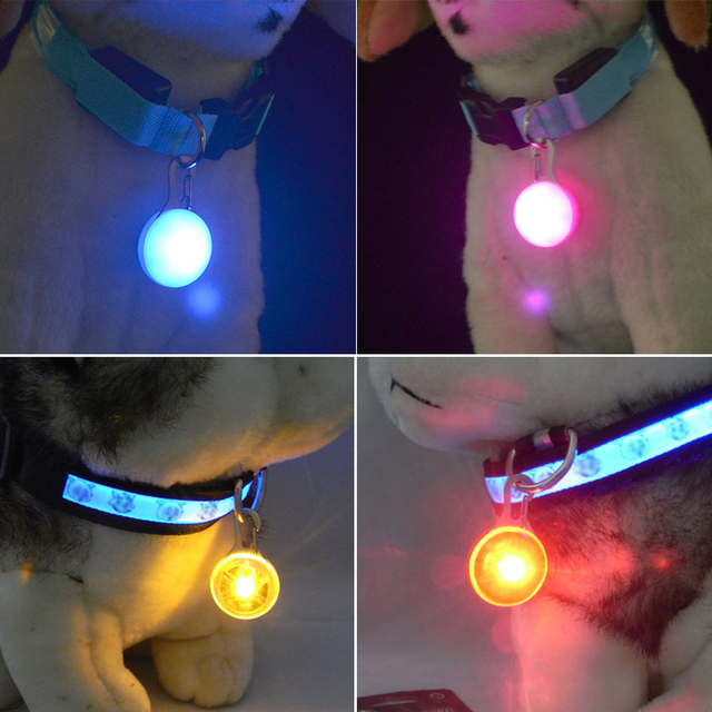 Glowing Pet Pendant LED Dog Collar Lighting For Night Safety  4