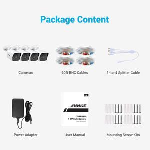 Image 5 - ANNKE 4X caméra Ultra HD 5MP vidéosurveillance TVI pour lextérieur, système de sécurité blanc résistant aux intempéries, Vision nocturne EXIR, Kit dalerte électronique