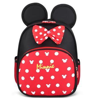 Disney dziecięce torby szkolne dla przedszkolaków dziecięce dzieci Minnie Mouse szkolne torby modny plecak wodoodporny tornister tornister tanie i dobre opinie NYLON zipper Backpack 0 3kg 27cm Cartoon Disney school bag Unisex 22cm 10cm