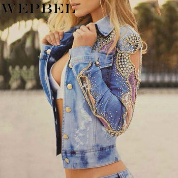 Fashion Women Hollow Out Coat Denim Jacket New Turn Down Collar Long Sleeve Short Slim Suit Jackets embroidery denim jacket female long sleeve jean jacket korean slim short bomber jackets women tight clothes jaqueta feminina new