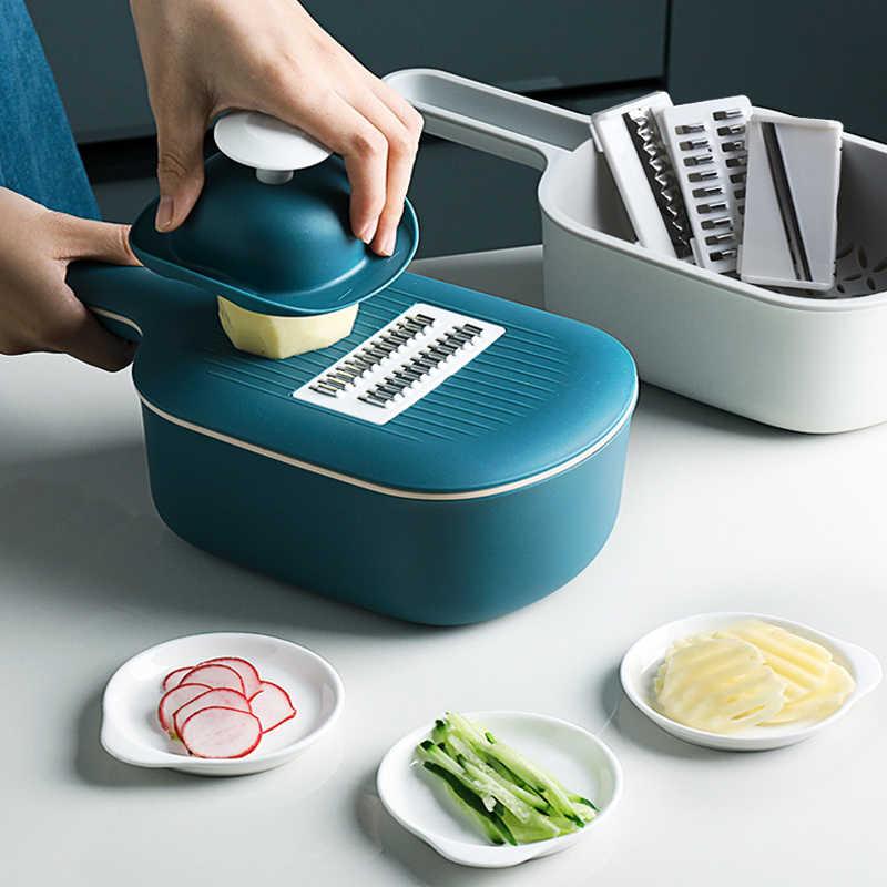 Verdura Cutter Affettatrice Multifunzionale Rotonda Mandoline Affettatrice di Patate Formaggio Gadget Da Cucina Accessori Da Cucina Frutta Grattugia