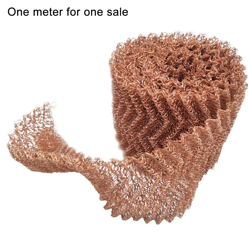 1 Meter Knitted 4 Wire Moonshine Home Distillation Brew Beer Woven Filter Sanitary Kitchen Bar Thickened Copper Mesh
