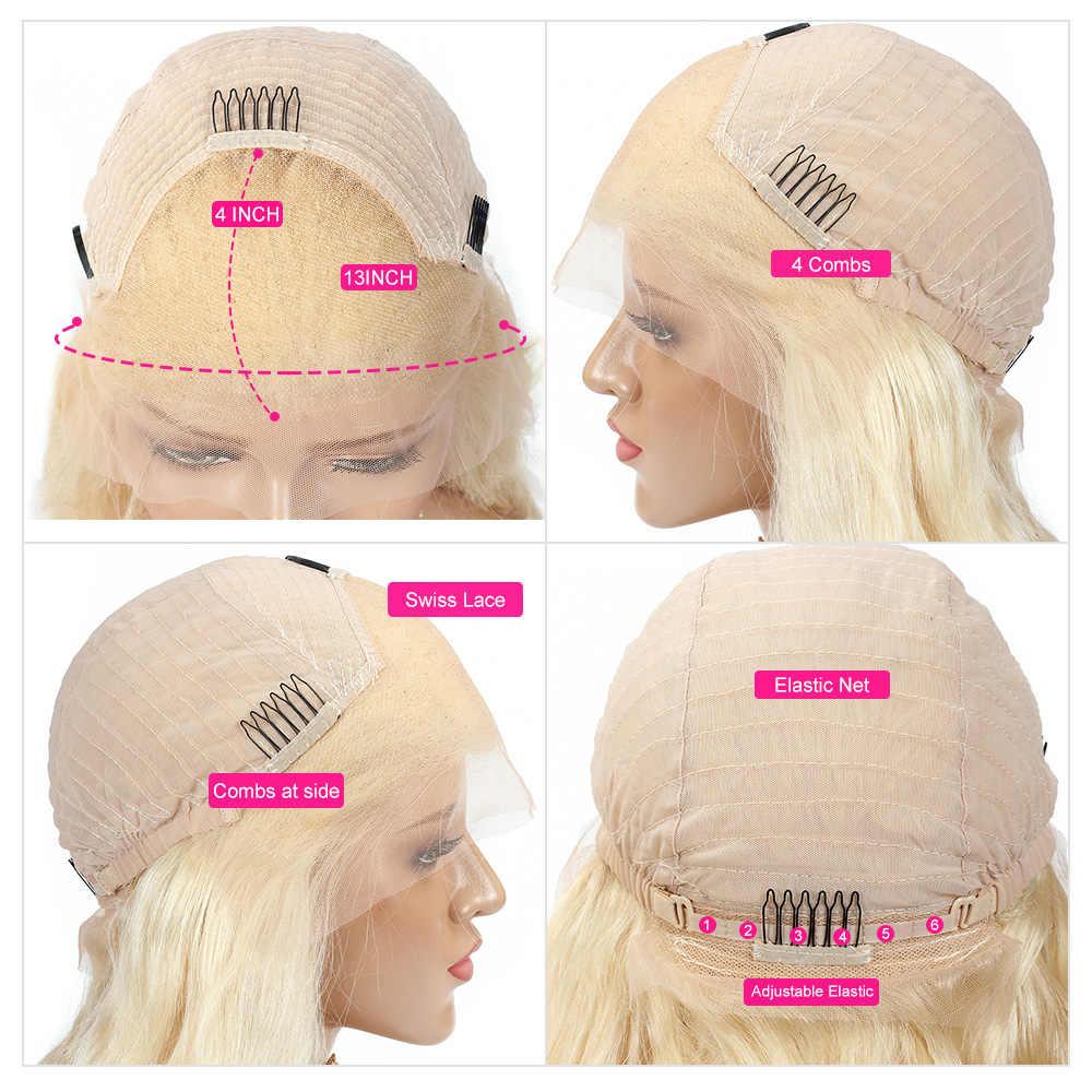 1B 613 koronki przodu włosów ludzkich peruk Glueless 13x4 peruwiański prosto Ombre koronki przodu peruki Preplucked z dzieckiem włosy głęboka część