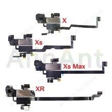 Fone de ouvido original flex, para iphone x xs max xr, proximidade, sensor de luz, som, fone de ouvido, alto falante, montagem por cabo flexível