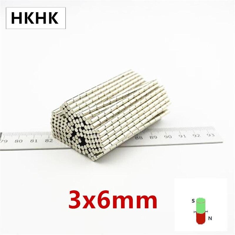 HKHK Диаметр магнит 3x6 мм магнитный датчик 3 мм х 6 мм магнитный съемник для жестких бирок для электронного отслеживания товара, Стандартный 3x6 ...