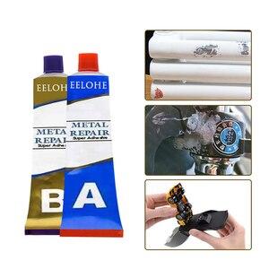 Image 3 - 1SET Schweißen Kalte Metall Reparatur Kleber Super Kleber Eisen Stahl Auto Kühler Wasser Tank Spezielle Leckage Einstecken Schweißen Kleber