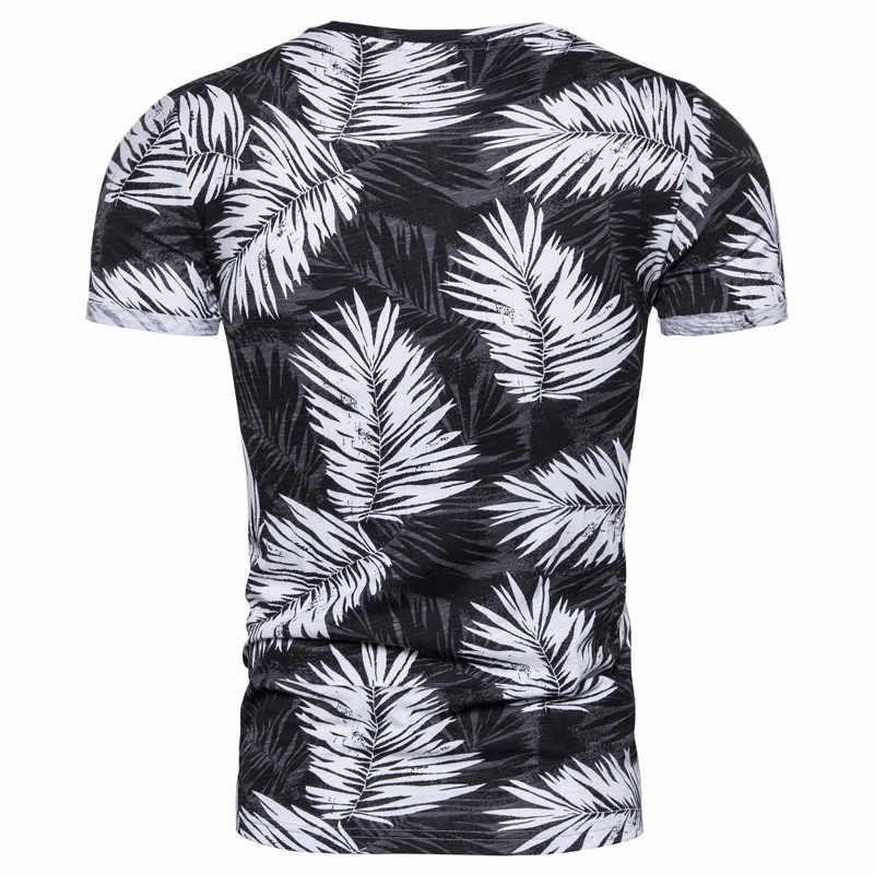 2020 חדש קיץ הוואי חוף סגנון 100% כותנה הדפסת חולצה גברים רך באיכות גבוהה Mens Tshirts Streetwear חולצות Tees חולצה גברים