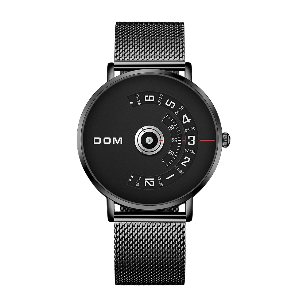DOM Watch Men Top Brand Luxury Quartz Watch Casual Quartz-watch Steel Mesh Strap Clock Male Relog M-1303