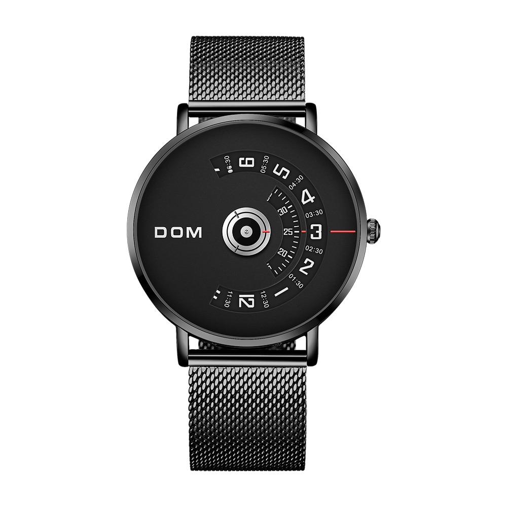 DOM Watch Men Top Brand Luxury Quartz Watch Casual Quartz-watch Steel Mesh Strap Clock Male Relog M-1303