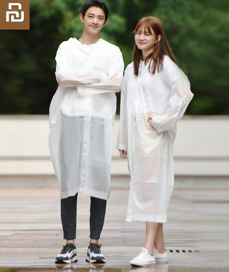 Xiaomi New Men Women Raincoat Windproof Waterproof Hooded EVA Rain Jacket Outside Hiking Rainwear Couple  Rain Coat