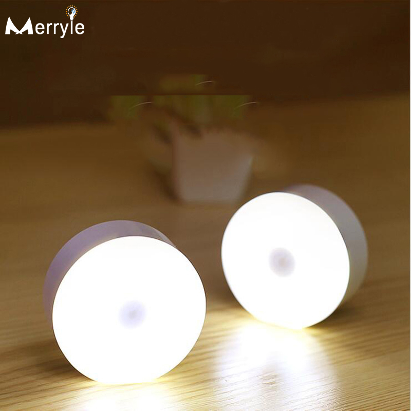8 Beads USB Recharge 700mah LED Wall Lamp Human Body Infrared Sensor Night Light Cabinet Closet Lights for Bedroom Stair Toilet