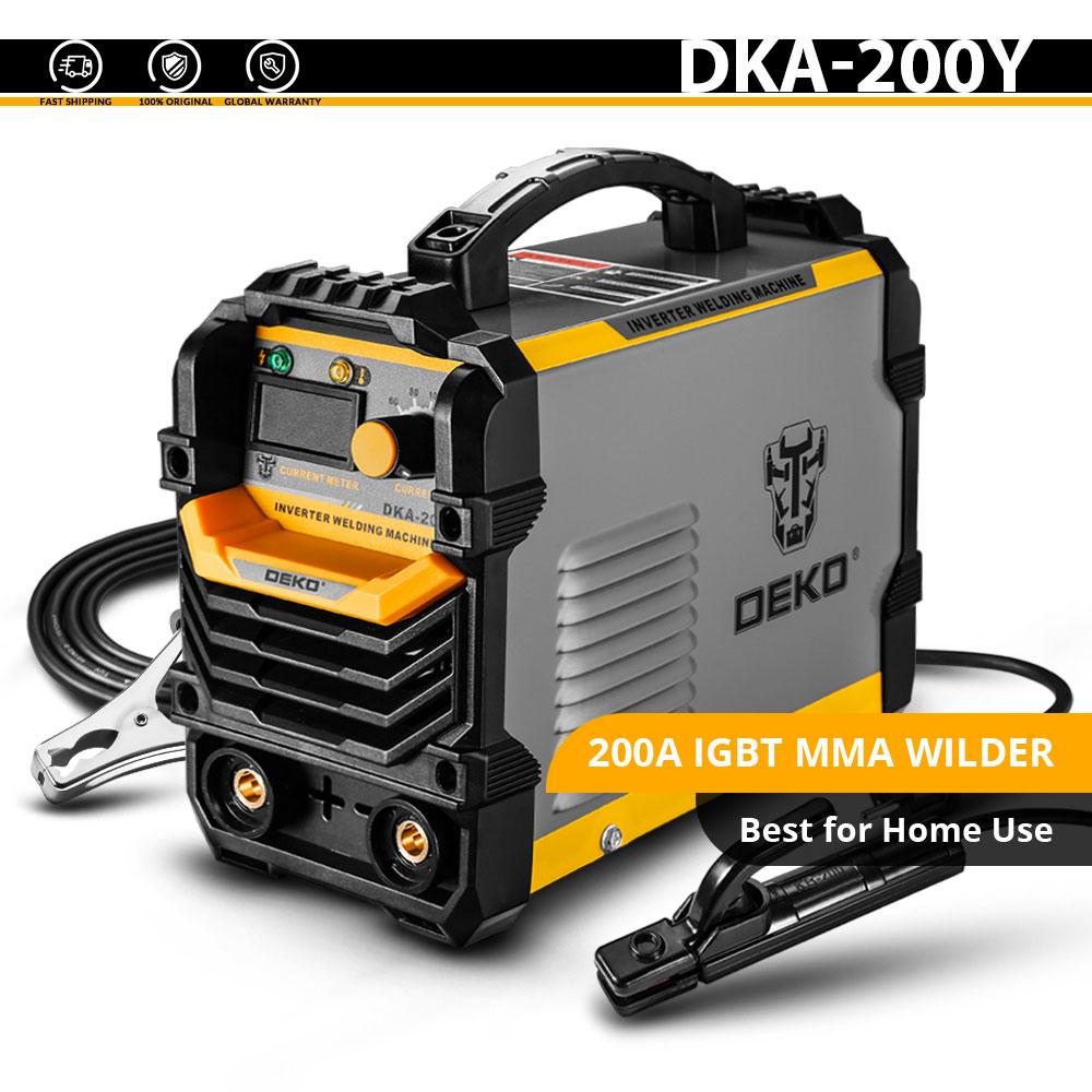 DEKO DKA-200Y 200A 4.1KVA инвертор дуговой Электрический сварочный аппарат 220V MMA сварочный аппарат для DIY сварочных работ и электрических работ - Цвет: DKA-200Y