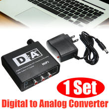 цена на Newest Digital To Analog Signal Converter Black Coaxial Digital Analog Signal Converter Supprot Toslink Input To Coaxial Output