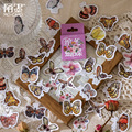 46 шт./лот милые бумажные наклейки в виде бабочек для скрапбукинга Jounal школьные принадлежности канцелярские принадлежности