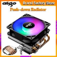 AIGO PC CPU Làm Mát Quạt 4 Heatpipes Quạt Tản Nhiệt CPU Tản Nhiệt Nhôm Tản Nhiệt Làm Mát CPU cho SOCKET LGA/115X/AM3/AM4/1366/2011