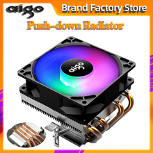 Aigo PC CPU Cooling Fan Cooler 4 Heatpipes CPU Cooler Fan Radiator Aluminum Heatsink CPU Cooler for LGA/115X/AM3/AM4/1366/2011