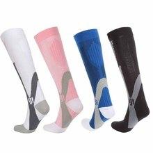 Woman Men Compression Socks Leg Support Stretch Sports Socks Knee High Men Nylon Sports Socksy Bicycle socks цена и фото