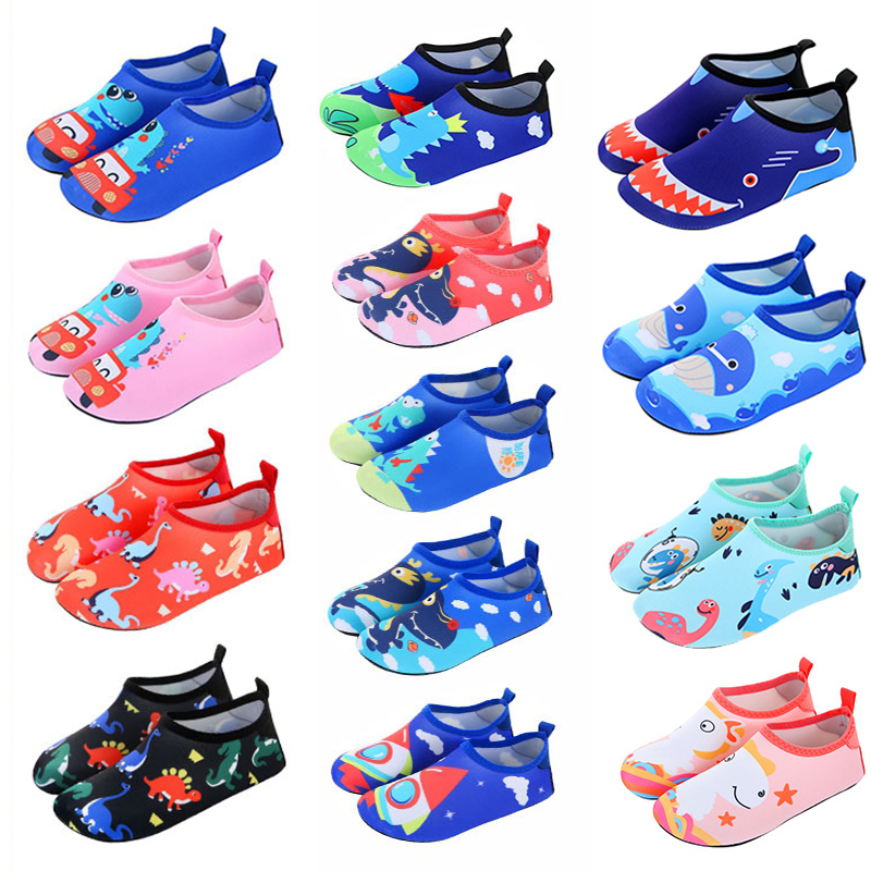 Boys Girls Quick Drying Swim Water Shoes Kids Animal Colorfur Barefoot Shoes Kids Shoes Children Swimming Slippers Quick Dryi