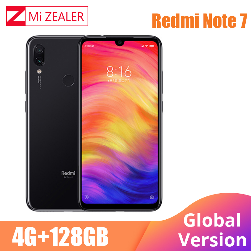 """Global Version Xiaomi Redmi Note 7 4GB+128GB Snapdragon 660 Octa Core 4000mAh 6.3"""" 2340*1080 48MP+5MP Cellphone  Dual Cameras-in Cellphones from Cellphones & Telecommunications"""