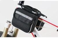 Quadro da bicicleta frente tubo saco de bicicleta sacos à prova de chuva mountain bike dois lado bolsa sela saco|Cestos e bolsas p/ bicicleta|   -