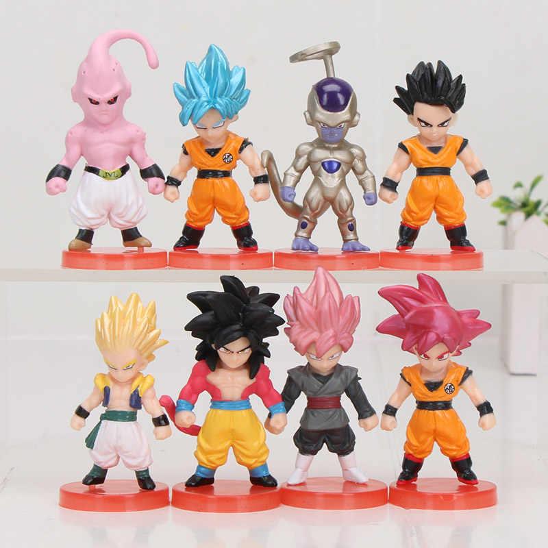 8 pçs/set 3-10 centímetros Dragon Ball Z Goku chichi DWC WCF Nappa Raditz Vegeta Freeza Piccolo Gohan PVC Action Figure Toy Modelo