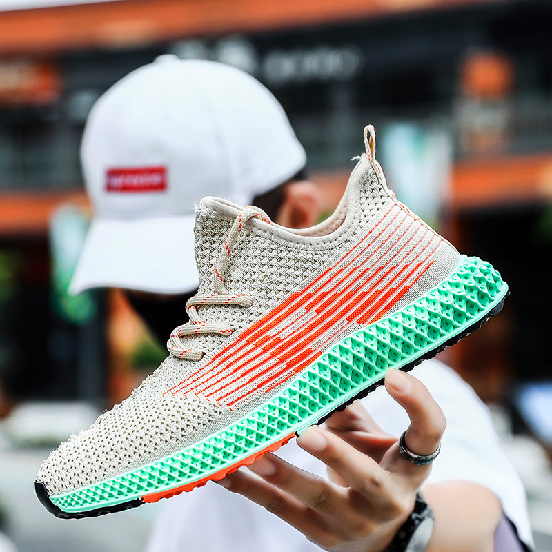 Fires Men Sneakers  Flyknit Breathable Brand Trend Sneaker For Man Training Shoes Zapatos Hombre Sneakers For Men Comfortable