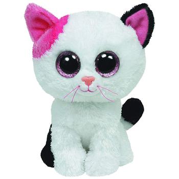 Ty nadziewane i pluszowe zwierzęta Muffin biała zabawka dla kota 15cm tanie i dobre opinie Tv movie postaci COTTON 3 lat Genius cats Pluszowe nano doll Miękkie i pluszowe Unisex Age 3+ Pp bawełna
