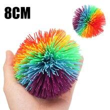 Yüksek kaliteli çocuklar yumuşak stres oyuncak topu silikon top duyusal sıkı stres giderici oyuncak topu çocuklar için