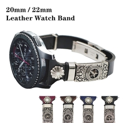 Leather Watch Strap for Xiaomi Huami Amazfit Bip/Stratos 2 2S 3/PACE/GTS/GTR 47MM 42 Watch Band for Huawei Watch GT/GT2 Straps