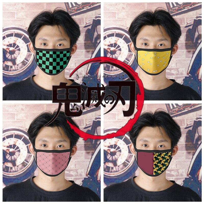 Demon Slayer Adult Child Cotton Masks Kamado Tanjirou Cosplay Costume  Respirator Keep Anti Dust Mouth Muffle Respirato